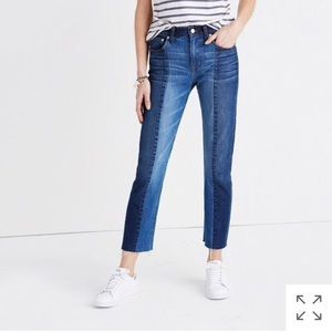Madewell Cruiser Straight Two Tone Jeans